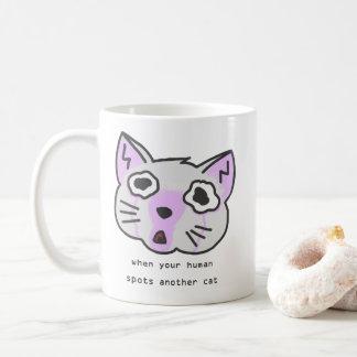 Caneca De Café Seu ser humano do TFW mancha um outro gato
