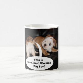 Caneca De Café Shih Tzu e buldogue inglês Puppys