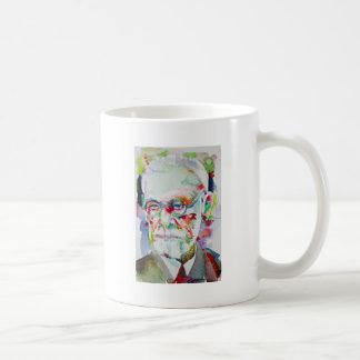 Caneca De Café Sigmund Freud - retrato .6 da aguarela