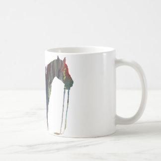 Caneca De Café Silhueta abstrata do cavalo