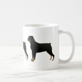 Caneca De Café Silhueta básica da ilustração da raça do cão de
