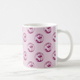 Caneca De Café Silhueta cor-de-rosa da criança que balança com