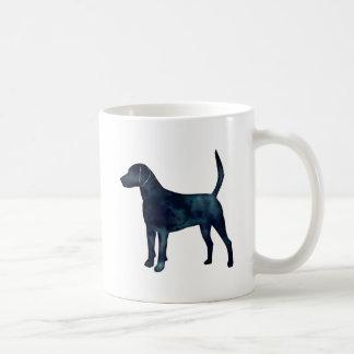 Caneca De Café Silhueta da aguarela do preto do lebreiro do cão