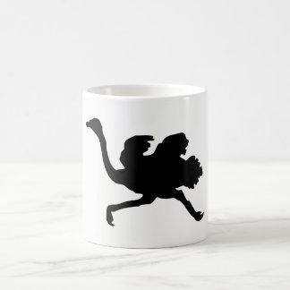 Caneca De Café Silhueta da avestruz