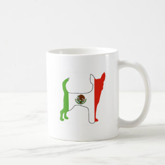 Caneca De Café silhueta da bandeira da chihuahua