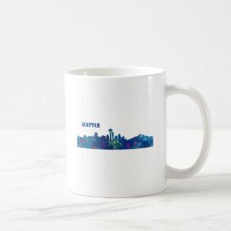 Caneca De Café Silhueta da skyline de Seattle