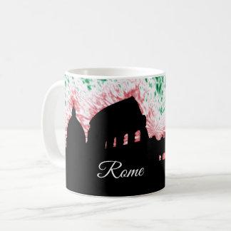 Caneca De Café Silhueta de Roma Italia