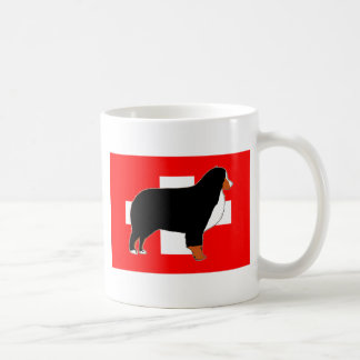 Caneca De Café silhueta do cão de montanha bernese na oxidação da