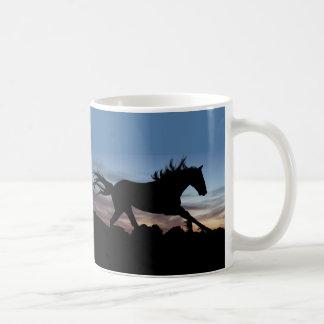 Caneca De Café Silhueta do cavalo