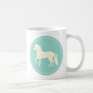 Caneca De Café Silhueta do cavalo de Paso Fino