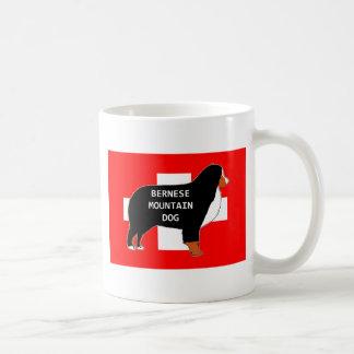 Caneca De Café silhueta do nome do cão de montanha bernese na