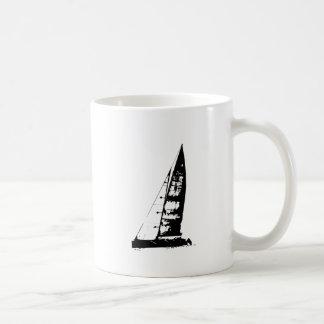 Caneca De Café Silhueta do veleiro