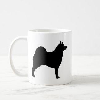 Caneca De Café Silhuetas de Elkhound do norueguês
