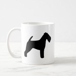 Caneca De Café Silhuetas de galês Terrier