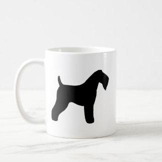 Caneca De Café Silhuetas de Terrier de azul de Kerry