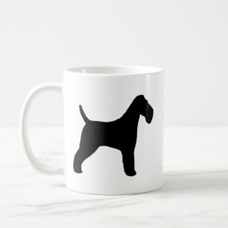 Caneca De Café Silhuetas do Fox Terrier do fio