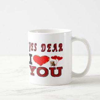 Caneca De Café Sim caro eu te amo