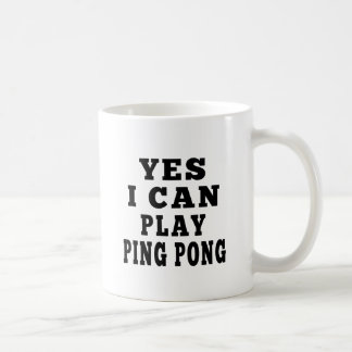 Caneca De Café Sim eu posso jogar o sibilo Pong