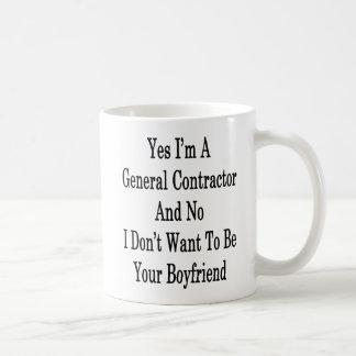 Caneca De Café Sim eu sou um general Contratante e nenhum eu não