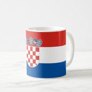 Caneca De Café Símbolo da bandeira de país de Croatia por muito