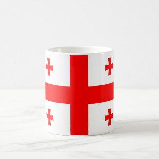 Caneca De Café símbolo da bandeira de país de Geórgia