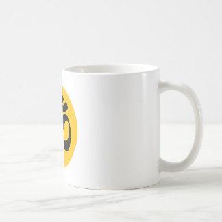 Caneca De Café Símbolo do OM, círculo preto com ouro