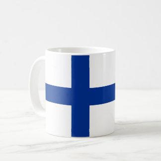 Caneca De Café símbolo longo da bandeira de país de finland