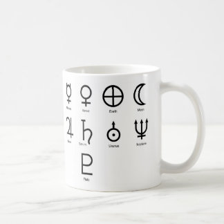 Caneca De Café Símbolos do planeta