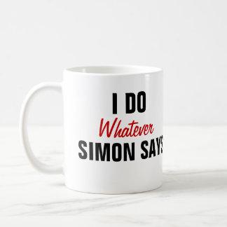 Caneca De Café Simon diz