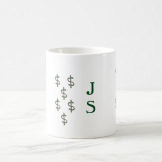 Caneca De Café Sinais de dólar do monograma