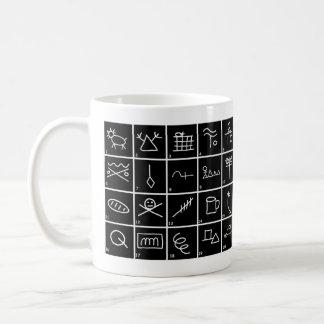 Caneca De Café Sinais e símbolos do vagabundo com significados