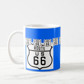 Caneca De Café Sinal de estrada americano do vintage da rota 66