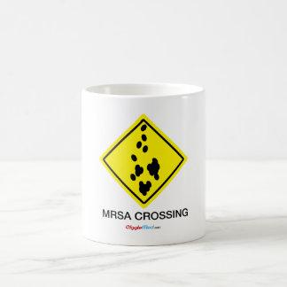 Caneca De Café Sinal do cruzamento de MRSA