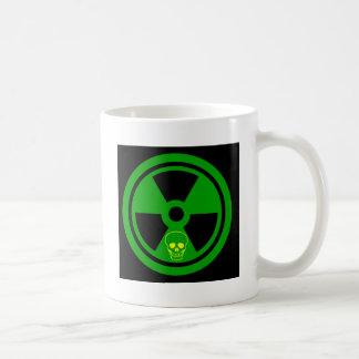 Caneca De Café Sinal radioativo do cuidado com crânio