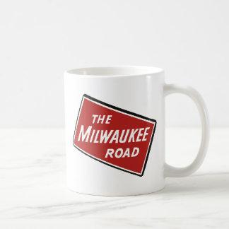 Caneca De Café Sinal Railway 2 da estrada de Milwaukee