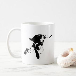 Caneca De Café Skydiving preto & branco