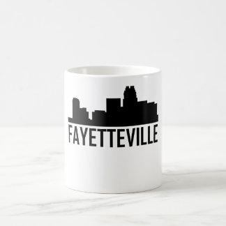 Caneca De Café Skyline da cidade de Fayetteville North Carolina