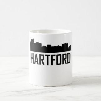 Caneca De Café Skyline da cidade de Hartford Connecticut