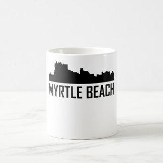 Caneca De Café Skyline da cidade de Myrtle Beach South Carolina