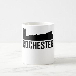 Caneca De Café Skyline da cidade de Rochester Minnesota
