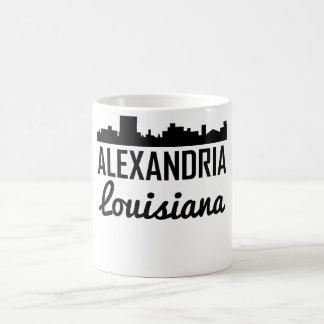 Caneca De Café Skyline de Alexandria Louisiana
