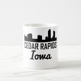 Caneca De Café Skyline de Cedar Rapids Iowa