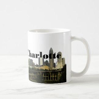 Caneca De Café Skyline de Charlotte NC com o Charlotte no céu