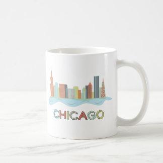 Caneca De Café Skyline de Chicago