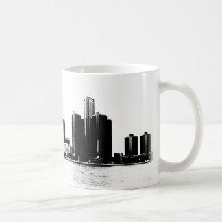 Caneca De Café Skyline de Detroit
