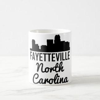 Caneca De Café Skyline de Fayetteville North Carolina