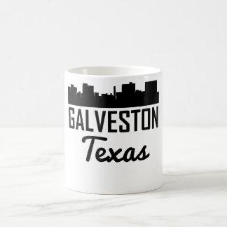Caneca De Café Skyline de Galveston Texas