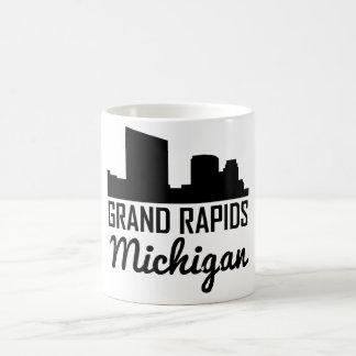 Caneca De Café Skyline de Grand Rapids Michigan