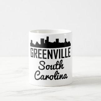 Caneca De Café Skyline de Greenville South Carolina