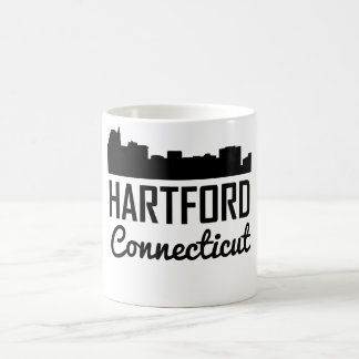 Caneca De Café Skyline de Hartford Connecticut